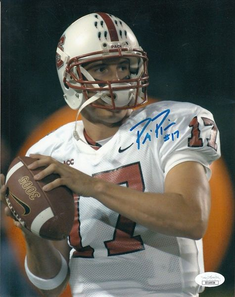 Philip Rivers autographed North Carolina State Wolfpack 8x10 photo (JSA)