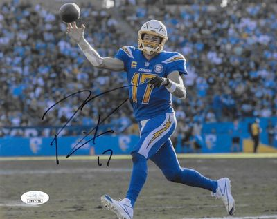 Philip Rivers autographed 2018 Los Angeles Chargers 8x10 photo (JSA)