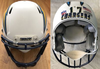 Philip Rivers San Diego Chargers 2012 full size custom Speed game model helmet
