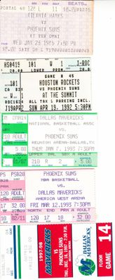 Phoenix Suns lot of 5 vintage ticket stubs (Charles Barkley)