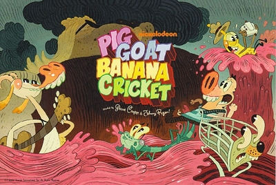 Pig Goat Banana Cricket 2015 Comic-Con 5x7 promo card