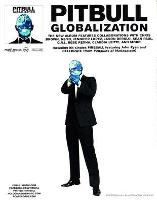 Pitbull Globalization 5 by 7 inch promotional card