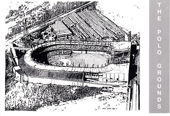 Polo Grounds 1990 Waterford Publishing postcard (Eric Hotz artwork)