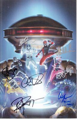 Power Rangers Hyperforce cast autographed 2018 Wondercon exclusive variant comic #8 (Meghan Camarena Yoshi Sudarso Cristina Valenzuela)