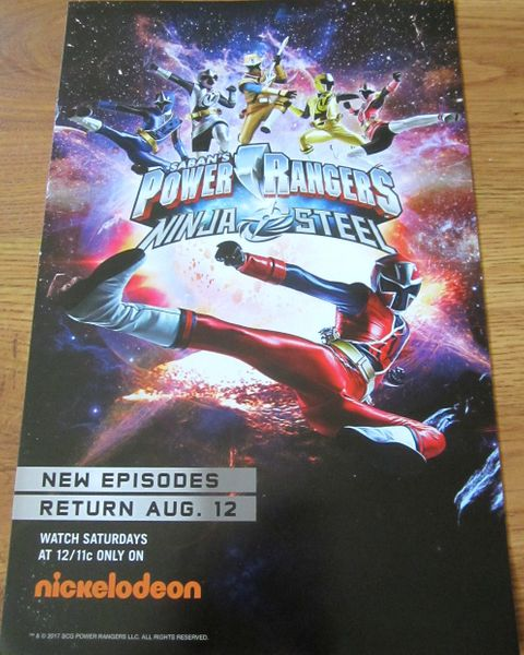 Power Rangers Ninja Steel 2017 Comic-Con mini 11x17 Nickelodeon poster