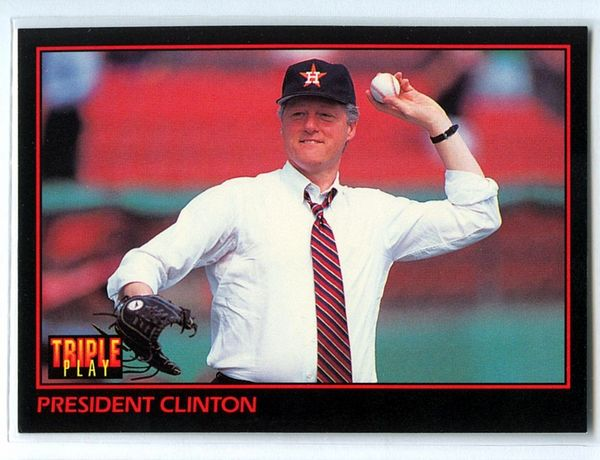 President Bill Clinton 1993 Donruss Triple Play card