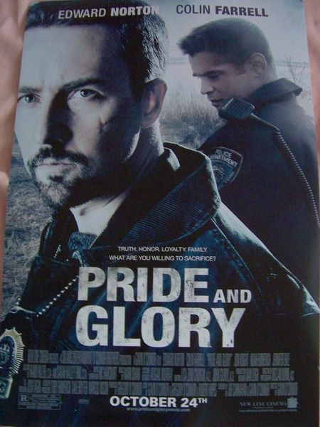 Pride and Glory mini movie poster (Colin Farrell & Edward Norton)
