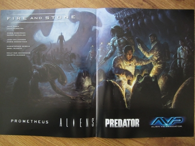 Prometheus Fire and Stone 2014 Comic-Con Dark Horse Comics mini 11x17 promo foldout poster