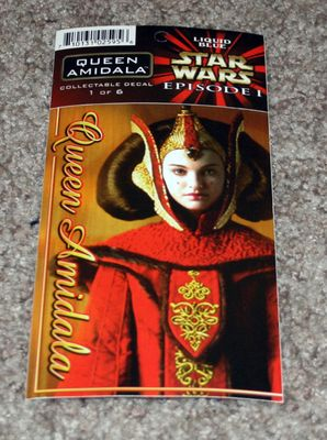 Queen Amidala Star Wars Episode 1 decal or sticker