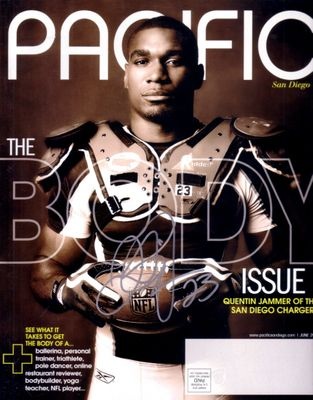 Quentin Jammer autographed San Diego Chargers Pacific magazine