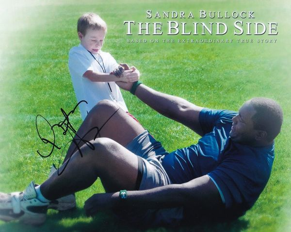 Quinton Aaron autographed The Blind Side 8x10 movie photo