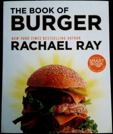 Rachael Ray autographed The Book of Burger paperback cookbook inscribed Yum-o!