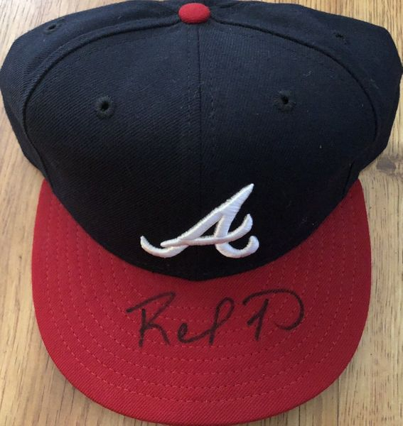 Rafael Furcal autographed Atlanta Braves authentic New Era game model cap or hat