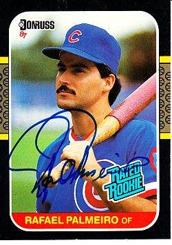 Rafael Palmeiro autographed Chicago Cubs 1987 Donruss Rookie Card