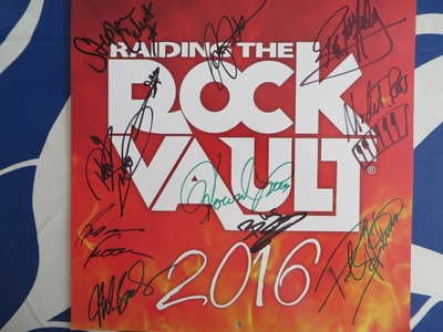 Raiding the Rock Vault complete band autographed 2016 calendar