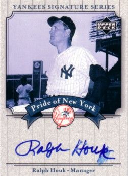 Ralph Houk certified autograph New York Yankees 2003 Upper Deck card
