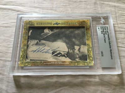 Ralph Kiner 2018 Leaf Masterpiece Cut Signature certified autograph card 1/1 JSA