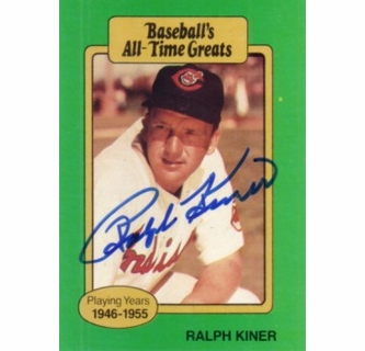 Ralph Kiner Autographed Cleveland Indians Baseballs All Time Greats