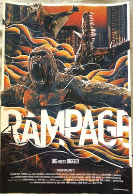 Rampage 2018 Wondercon exclusive 13x20 mini movie poster