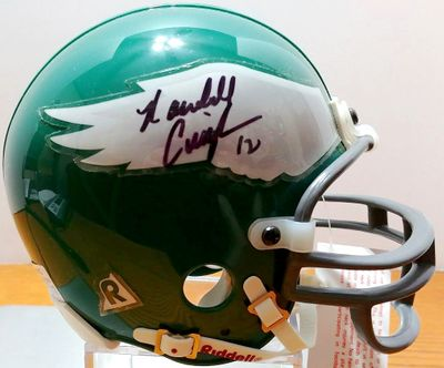 Randall Cunningham autographed Philadelphia Eagles throwback mini helmet