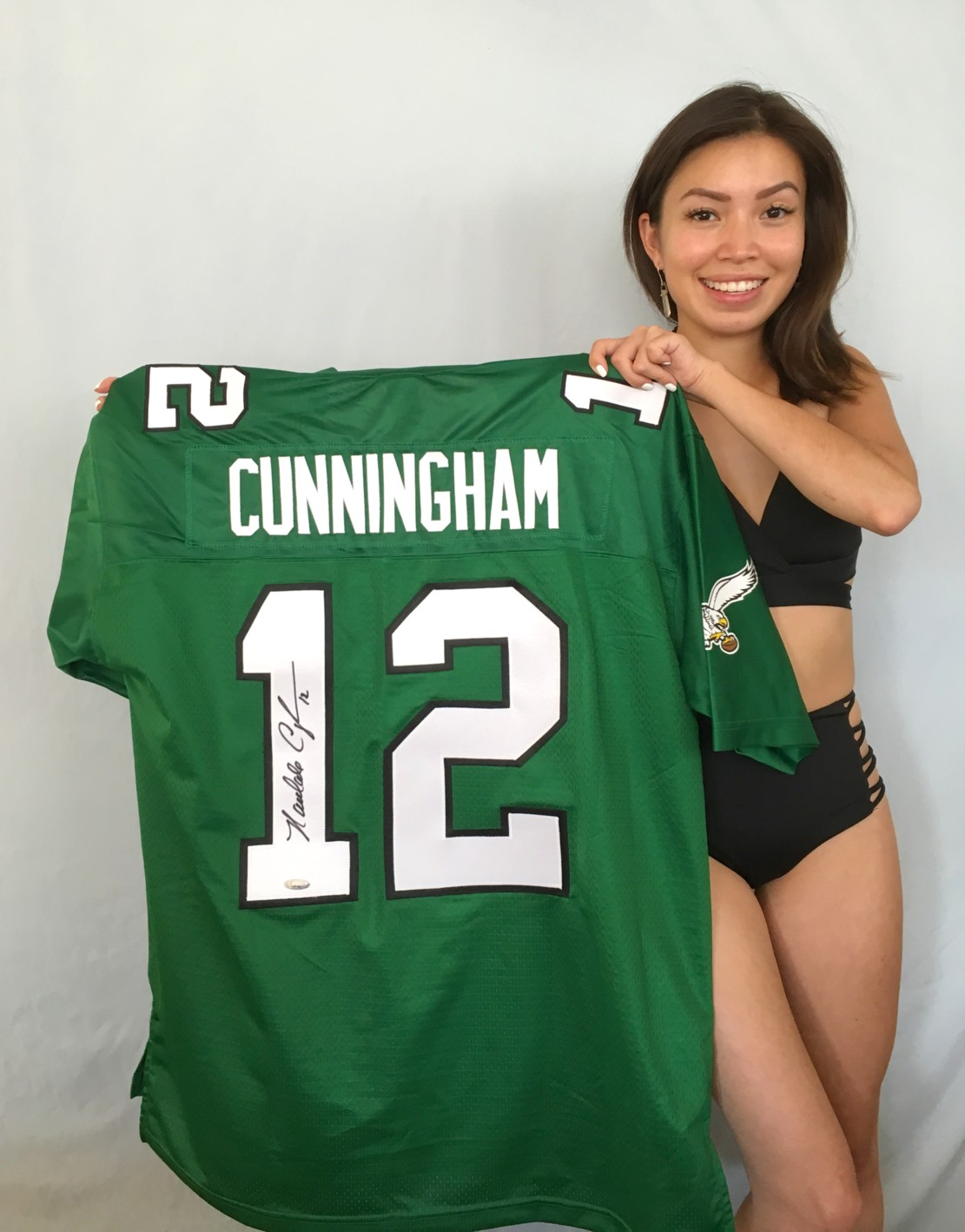 new product af359 8a694 Randall Cunningham autographed Philadelphia Eagles authentic ...