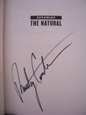 Randy Couture autographed Becoming the Natural softcover MMA book