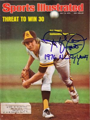 Randy Jones autographed San Diego Padres 1976 Sports Illustrated inscribed 1976 NL CY YOUNG