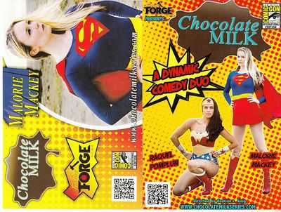 Raquel Pomplun & Malorie Mackey (Bench Warmers) Chocolate Milk 2015 Comic-Con 4x6 promo cards
