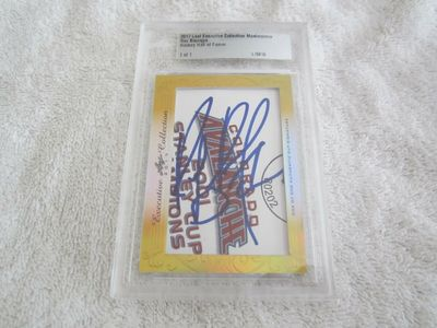 Ray Bourque 2017 Leaf Masterpiece Cut Signature certified autograph card 1/1 JSA