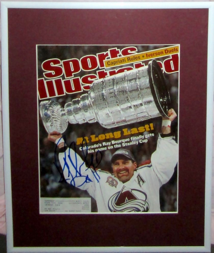 new style b4f24 d20cc Ray Bourque autographed Colorado Avalanche 2001 Stanley Cup ...