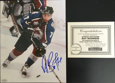 Ray Bourque autographed Colorado Avalanche 8x10 photo (Mounted Memories)