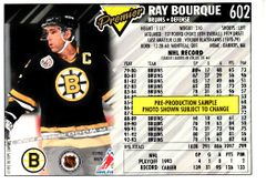 Ray Bourque Boston Bruins 1993-94 Topps Premier promo or sample card