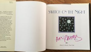 Ray Bradbury autographed Switch On The Night hardcover children's book