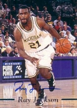 Ray Jackson certified autograph Michigan Wolverines Fab Five 1995 Classic Basketball Rookies card