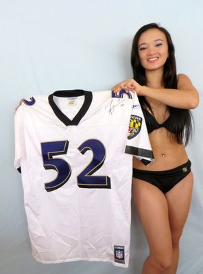 Ray Lewis autographed Baltimore Ravens authentic Reebok stitched jersey