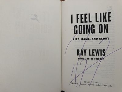 Ray Lewis autographed I Feel Like Going On hardcover book
