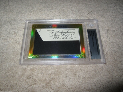 Ray Meyer 2014 Leaf Masterpiece Cut Signature certified autograph card 1/1 DePaul