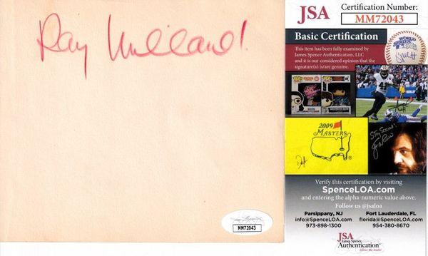 Ray Milland autographed autograph album or book page (JSA)