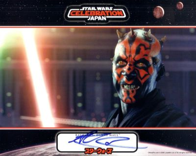 Ray Park autographed Star Wars Episode I Darth Maul 8x10 Official Pix photo