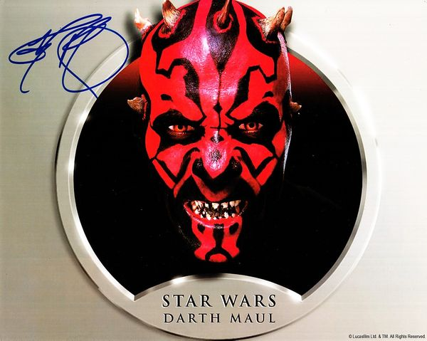Ray Park autographed Star Wars Darth Maul 8x10 photo