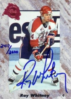 Ray Whitney certified autograph 1991 Classic card