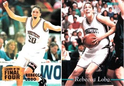 Rebecca Lobo UConn Huskies 1995 Classic Rookies and 1996 Classic Legends of the Final Four cards