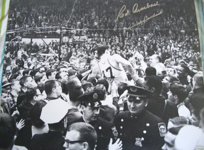 Red Auerbach and John Havlicek autographed Boston Celtics 1965 NBA Championship 16x20 poster size photo (TriStar)