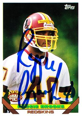 Reggie Brooks autographed Washington Redskins 1993 Topps Rookie Card