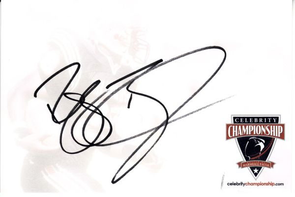 Reggie Bush autographed 4x6 signature card