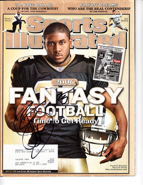 Reggie Bush autographed New Orleans Saints 2006 Sports Illustrated