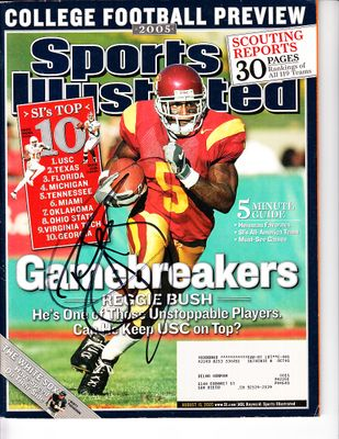 Reggie Bush autographed USC Trojans 2005 Sports Illustrated