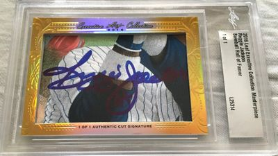 Reggie Jackson 2016 Leaf Masterpiece Cut Signature certified autograph card 1/1 JSA