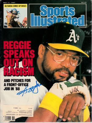 Reggie Jackson autographed Oakland A's 1987 Sports Illustrated
