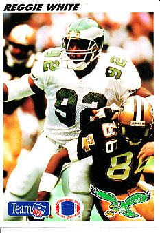 Reggie White Philadelphia Eagles 1991 Upper Deck mini football card